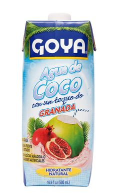 El Agua de Coco GOYA  con granada es baja en calorías y súper hidratante, una manera de obtener el potasio y otros nutrientes que necesitas para satisfacer tu sed y mantener feliz a tu cuerpo.
