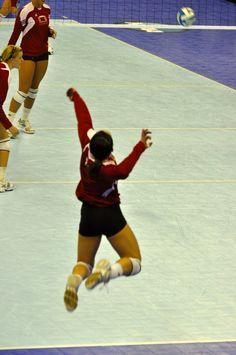 Serve it up!  Husker Volleyball
