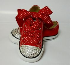 If i ever have a little girl, she NEEDS these! Olivia the Pig red Converse sneakers with by DESIGNEDBYDVB on Etsy, $65.00