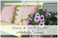 Low Cost (or FREE) Summer Activities