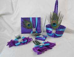 Peacock Reception Centerpieces | Peacock Feather Purple Turquoise Guest Book Pen Set Wedding Reception ...