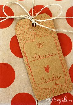 silhouette sketch pens gift tag