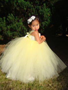 Yellow Maize Flower girl tutu dress with by JadasLittleGarden, $73.00