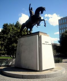 The General Jose de San Martin Memorial is statue memorial of Argentine general and independence leader José de San Martín in Washington, D.C., United States. The memorial was sculpted by Augustin-Alexandre Dumont beginning in 1924. It is a replica of an original located at the Plaza San Martín in Buenos Aires. The memorial was a gift to the United States from Argentina and was dedicated on October 28, 1925.