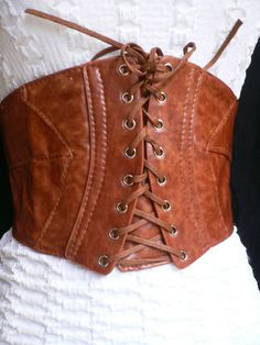 NEW HOT WOMEN ELASTIC HIGH WAIST WIDE BROWN HOLLYWOOD CORSET BELT HOT TIE XS-S-M