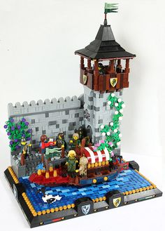LEGO SET Castle The pleasure barge #lego #legoset #MOC #castle #legocastle #legokingdoms #gondola