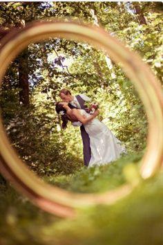 Picture taken through wedding ring