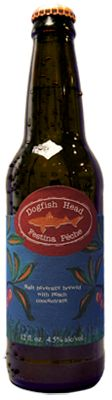 Dogfish Head peach beer.  I'm not a huge fan of beer, but, yum...this stuff is good!