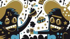Ilustración cafe gold | illustration by New Fren, via Behance