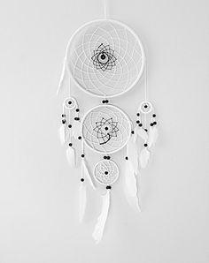 White Dream Catcher Large Triple Dream by MagicalSweetDreams White wedding decor, dream catcher, Large dreamcatcher, dreamcatchers, boho stale, dream catchers, wedding decor #Home #Décor #Wall_Décor #Wall_Hangings #dream_catcher #etsy #dreamcatcher #accessories #Weddind