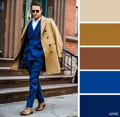 18 ideal color combinations in clothes for men - Style Costume Homme, Color Combinations For Clothes, Colour Combinations, La Mode Masculine, Bespoke Suit, Elegant Man, Mens Fashion Suits, Colourful Outfits, Men Looks