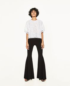 Image 1 of LACE TOP from Zara Zara Outfit 885b3d1cf