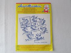 15-0716 Aunt Martha's Hot Iron Transfers / Embroidery