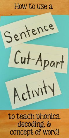 A step-by-step how-to guide to doing a sentence strip cut-apart activity!