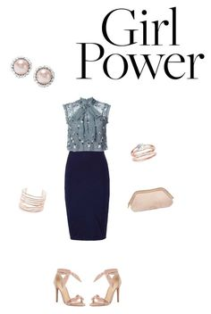 """""""Untitled #40"""" by courtney1248 ❤ liked on Polyvore featuring Needle & Thread, Alexandre Birman, Miu Miu, Alexis Bittar and Burberry"""