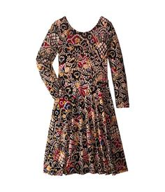 fiveloaves twofish Victorian Velvet Dress (Little Kids/Big Kids)