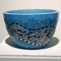 Mosaic Bowl Blue