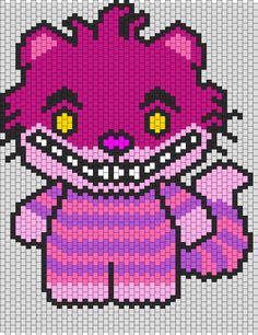 Cheshire Cat Hello Kitty Bead Pattern