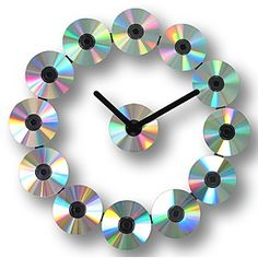 Reloj de Pared de CDs. Curiosite (Diy Necklace Homemade)