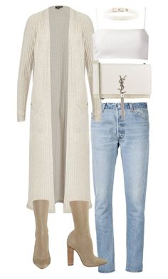 """Untitled #20231"" by florencia95 ❤ liked on Polyvore featuring RE/DONE, Giuliana Romanno, Yves Saint Laurent and YEEZY Season 2"
