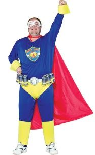 Beer Man Super Hero Costume- we could dress the guys up!!