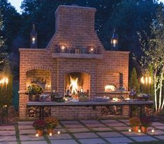 Hottest Absolutely Free exterior Fireplace Outdoor Ideas Planning for an Outdoor Fireplace? Outdoor fireplaces and fire pits produce a warm and inviting area Outside Fireplace, Outdoor Fireplace Designs, Backyard Fireplace, Cozy Fireplace, Backyard Patio, Fireplace Outdoor, Fireplace Ideas, Outdoor Kitchen Bars, Pizza Oven Outdoor