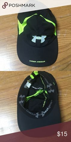 lime green under armour hat