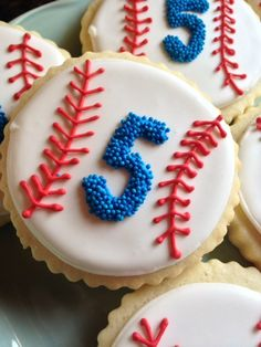 Here are a new set of baseball themed cookies we just finished at our bakery!