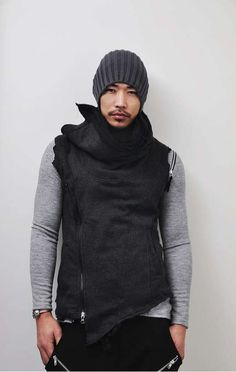 The Street-Edge Hurricane Turtle Vest is Fashionably Futuristic #coats #mensfashion trendhunter.com