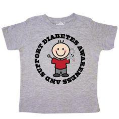 b26b07e37 Type 1 Diabetes Awareness Clothing Toddler T-Shirt Heather $15.99  www.awarenesstshirts.com