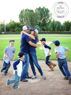 Yankee baseball family photo idea