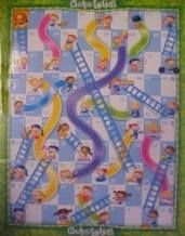 Do-it-yourself math board game for toddlers.  Can't wait to play!