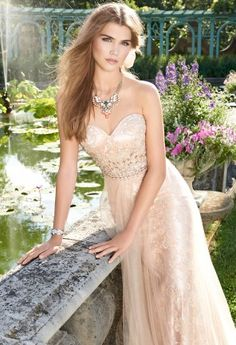 Beaded Lace Grecian Dress from Camille La Vie and Group USA