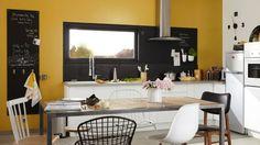 Mustard yellow kitchen Leroy Merlin Source by Kitchen Models, White Modern Kitchen, Rustic Kitchen, Kitchen Remodel, Kitchen Linens, Dining Room Paint, Cabinet Decor, Yellow Kitchen Designs, Rustic Kitchen Cabinets