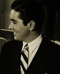 Tyrone Power  - One of the most perfect profiles ever in the history of human beings.