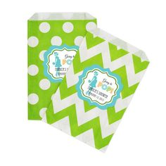 Going to Pop - Blue Chevron & Dots Goodie Bags (set of 36)