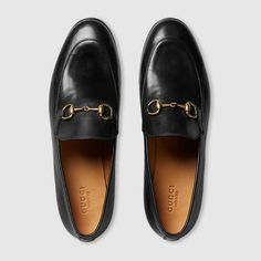 The Gucci Jordaan is our new Horsebit loafer with a slimmer shape and Horsebit.Shop the Gucci Jordaan leather loafer by Gucci. The Gucci Jordaan is our new Horsebit loafer with a slimmer shape and Horsebit. Black Flats Shoes, Black Leather Flats, Real Leather, Shoes Sandals, Oxford Shoes, Dress Shoes, Dance Shoes, Gucci Flats, Gucci Gucci