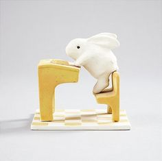 Heljä Liukko-Sundström Arabia figurin Make A Book Cover, Beautiful Rabbit, Motif Design, Native American Art, Hare, Rabbits, Finland, Pond, Bunnies