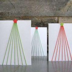 DIY yarn Christmas cards