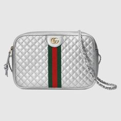 027be32784fc Shop the Laminated leather small shoulder bag by Gucci. Presented on the  Fall Winter 2018