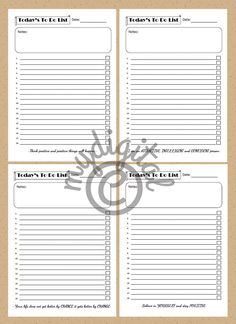 Printable To Do List, Today's To Do List With Motivational Quotes by mydigital on Etsy