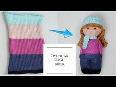 Bundan daha kolayı yok oyuncak örgü bebek It's no easier than this baby knitting toy Baby Knitting Patterns, Knitted Doll Patterns, Knitted Dolls, Loom Knitting, Crochet Toys, Crochet Patterns, Tricot D'art, Worry Dolls, How To Make Toys