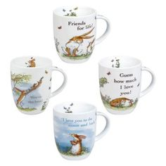 Konitz Assorted Guess How Much I Love You Mugs - Set of 4