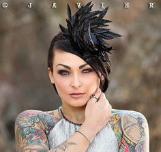 Black Feather Chain Saw Cocktail Hat Black by Feathersinmyattic, $68.00
