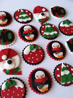 These colorful and fun toppers are perfect to decorate your cupcakes. If you are interested in ordering more than one dozen cupcake toppers or Christmas Cupcake Toppers, Christmas Cupcakes Decoration, Christmas Topper, Holiday Cupcakes, Christmas Sweets, Christmas Cooking, Noel Christmas, Christmas Goodies, Winter Christmas