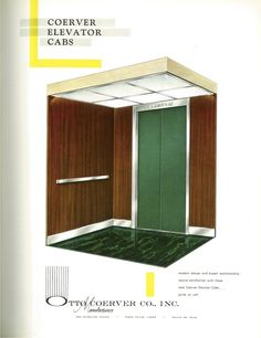 #TBT to this Otto Coerver Co., Inc. ad for their elevator cabs from the August 1960 issue of ELEVATOR WORLD. #elevatorcabs #design