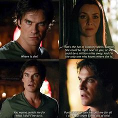 """+ Only thing I care about this entire season: Damon protecting Elena. He loves her so much . #Delena #damonsalvatore #tvd #vampirediaries…"""