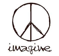 """""""imagine peace"""" indeed! Beatles Lyrics Tattoo, Lyric Tattoos, Love Tattoos, Small Tattoos, Tatoos, Hippie Peace, Happy Hippie, Hippie Love, Hippie Art"""