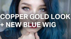 Copper Gold Makeup Look + New Blue Wig