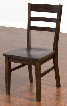 2 Santa Fe Dark Chocolate Solid Wood Ladderback Chairs